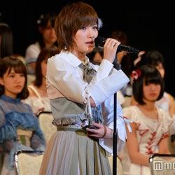 AKB48岡田奈々、2年連続選抜入りで涙「グループの風紀委員長目指す」<第9回AKB48選抜総選挙>