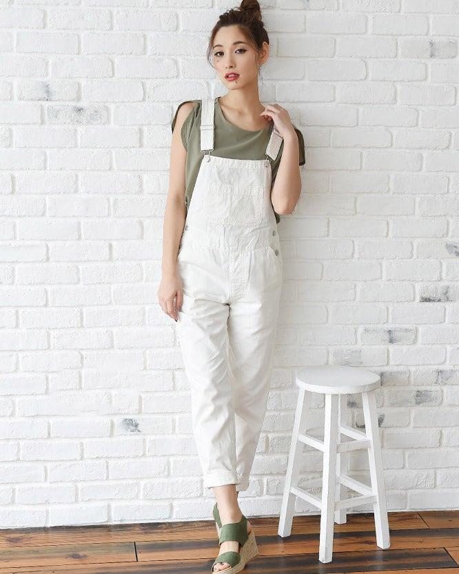 [綿100%]デニムサロペット・ロングパンツ「LuzLlena」4,670円(税込)/画像提供:LuzLlena