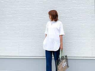 この夏《ビッグサイズTシャツ》のススメ。おっきめTシャツがこなれ感を作る!