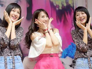 """JY""=知英、月9「スキコト」ダンスを披露 話題の双子""りかりこ""とキュートに踊る"
