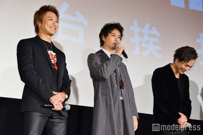 (左から)TAKAHIRO、斎藤工、登坂広臣 (C)モデルプレス