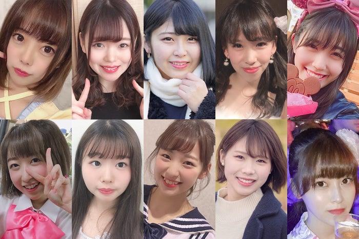 (上段左から)めっちょ、ナミテル、かおり、あまこっち、みみ(下段左から)ばんび、ぺんちゃん、大田奈々花、あずあず、あやね(提供写真)