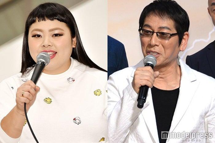 「 ゴチになります!」に新メンバーとして加入した(左から)渡辺直美、大杉漣(C)モデルプレス