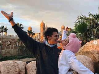 「テラハ」島袋聖南&石倉ノアカップル、ディズニーでキス寸前ラブラブショット「憧れる」「胸キュン」の声