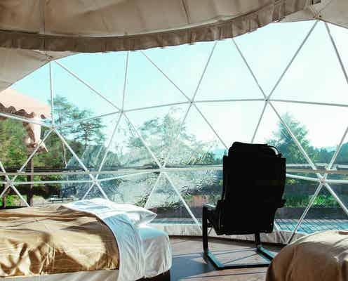 「軽井沢グランピング グランクラッセ」お洒落なドームテントで自然と一体化するアウトドア滞在