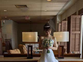 小林麻耶、ウェディングドレス姿公開「シンデレラのよう」と反響続出