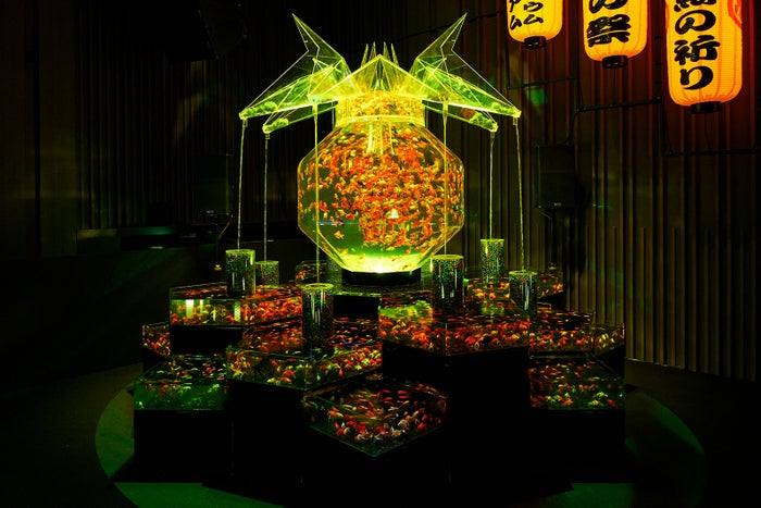 東京会場展示予定作品「超・花魁」/画像提供:アートアクアリウム実行委員会