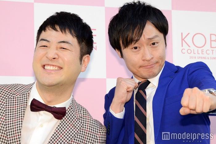「神戸コレクション 2018 SPRING/SUMMER」に出演した和牛・水田信二、川西賢志郎 (C)モデルプレス