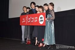 (左から)熊澤尚人監督、清野菜名、松坂桃李、吉高由里子、佐津川愛美、清原果耶、Rihwa(C)モデルプレス