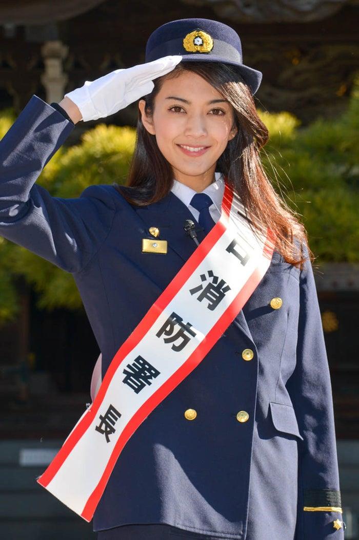 一日消防署長に就任した田中道子(提供写真)