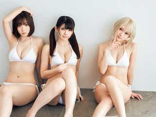 えなこ&伊織もえ、コスプレ界激震の誌面初共演 篠崎こころと共に美ボディで魅了