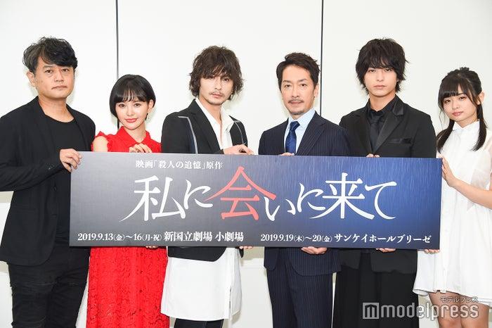 (左から)ヨリコ ジュン氏、兒玉遥、藤田玲、栗原英雄、中村優一、西葉瑞希 (C)モデルプレス