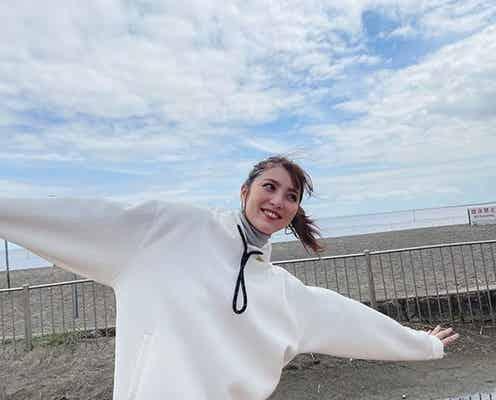 石川恋、テンション爆上げ満面笑みのオフショットに「素敵」「すごく楽しそう」