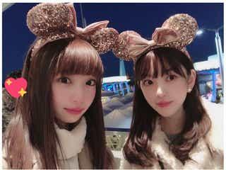 NGT48荻野由佳、乃木坂46堀未央奈とディズニーデート 仲良し2ショットに反響殺到