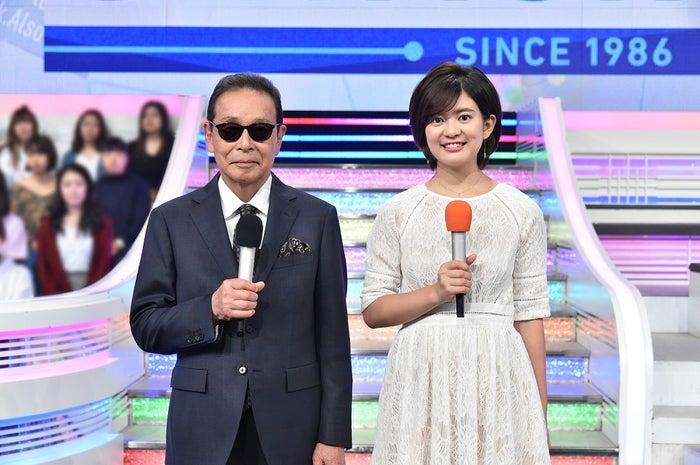 MCのタモリ、並木万里菜アナ (画像提供:テレビ朝日)