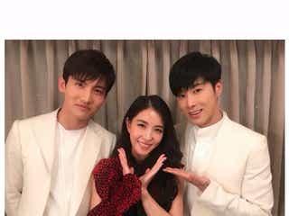 BoA、東方神起との「FNS歌謡祭」オフショット披露「レジェンド3人」「やっぱり格別」