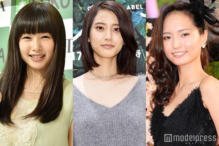 (左から)桜井日奈子、山崎紘菜、山賀琴子(C)モデルプレス