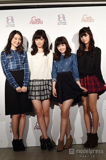 「non‐no」新専属モデル(左から:高田里穂、久慈暁子、遠藤新菜、鈴木優華)