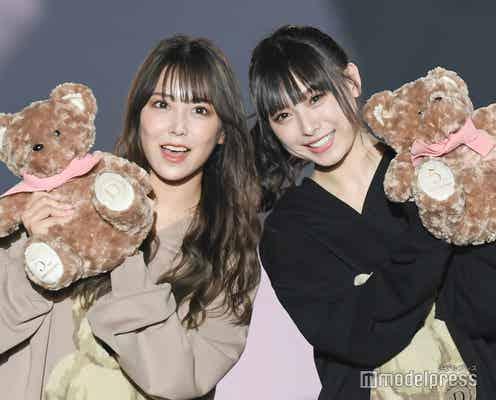 白間美瑠&NMB48梅山恋和、手つなぎ2ショットランウェイ 白間グループ卒業後で共演実現<関コレ2021A/W>