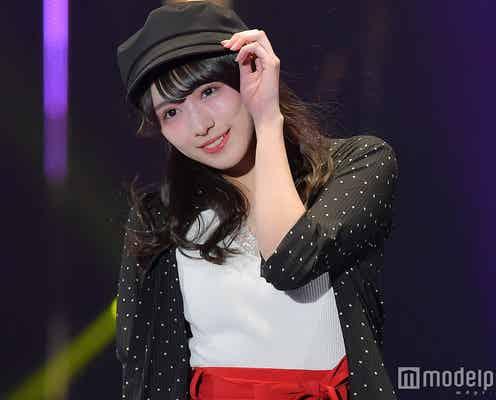 欅坂46渡辺梨加、キュートなポーズにキュン ミニスカートで美脚輝く<TGC2018S/S>