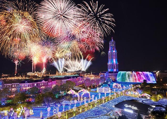 ハウステンボス「九州一花火大会」豪華絢爛22,000発の圧巻花火/画像提供:ハウステンボス