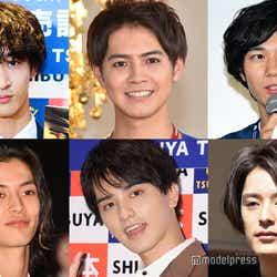 (左上から時計回りに)上杉柊平、片寄涼太、清原翔、塩野瑛久、瀬戸利樹、渡邊圭祐 (C)モデルプレス