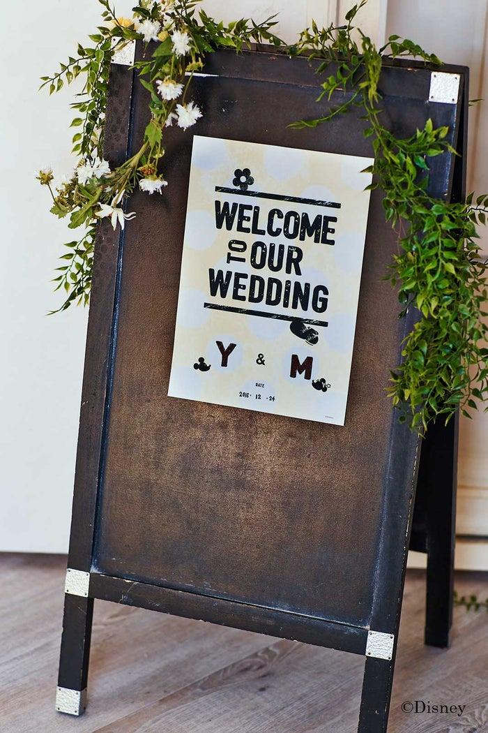 結婚式当日に役立つウェルカムボード