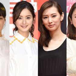 (左から)広瀬すず、佐々木希、北川景子、石原さとみ(C)モデルプレス