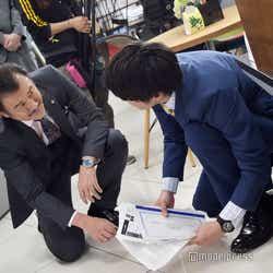 黒澤(吉田鋼太郎)と春田(田中圭)。 (C)モデルプレス