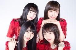 (左上から時計回りに)江籠裕奈、鎌田菜月、熊崎晴香、菅原茉椰 (C)モデルプレス