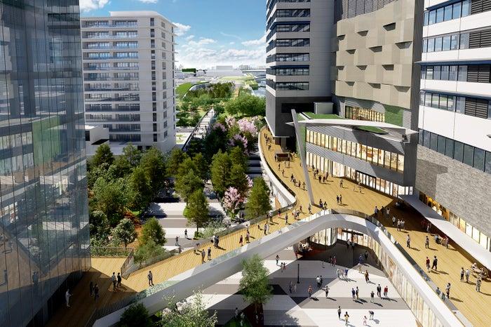 豊洲シビックセンターからららぽーと豊洲3へのアクセス経路/画像提供:三井不動産