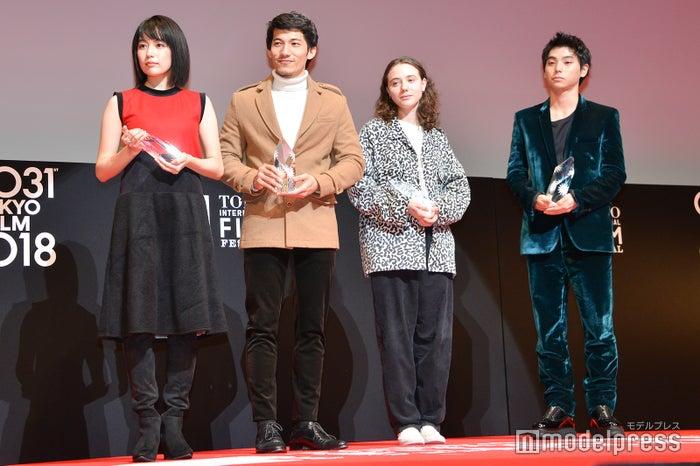 木竜麻生、リエン・ビン・ファット、カレル・トレンブレイ、村上虹郎 (C)モデルプレス