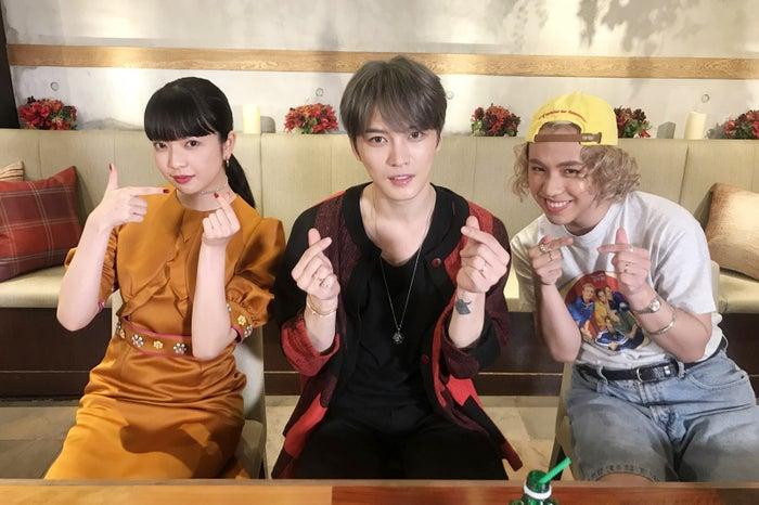 (左から)田中芽衣、ジェジュン、りゅうちぇる(提供写真)