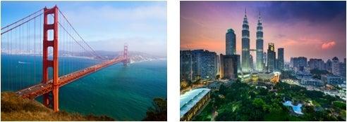 サンフランシスコ、マレーシア/画像提供:AAE Japan