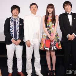 瑠東東一郎監督、板尾創路、松井愛莉、千原ジュニア(C)モデルプレス