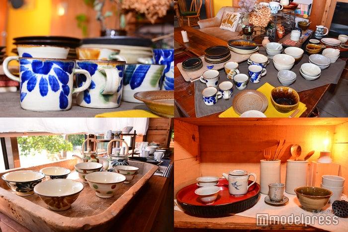 素敵な食器&茶器がたくさん(C)モデルプレス