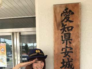"""""""日本一かわいい女子高生""""りこぴんがポリスに変身 地元で初体験「本当に嬉しい」"""