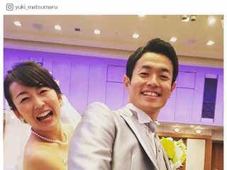 """狩野恵里アナ、""""笑顔溢れる""""結婚式 色打掛姿も披露<挙式の様子>"""