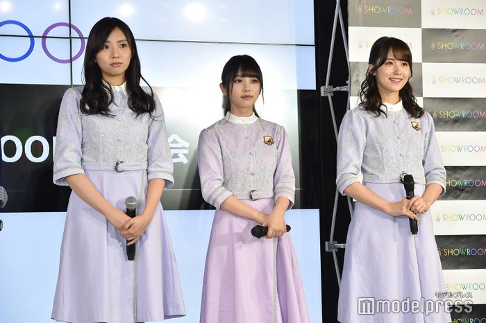 (左から)新内眞衣、与田祐希、衛藤美彩(C)モデルプレス