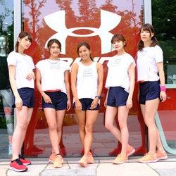 村田倫子・アンジェラ芽衣ら美女たちが健康美脚あらわに走る!公式練習の様子は?