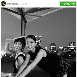 """篠田麻里子、前田敦子の""""セクシーポーズ""""公開 素肌をチラ見せ"""