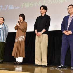 (左から)小日向文世、長澤まさみ、東出昌大、小手伸也 (C)モデルプレス