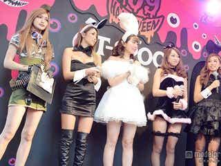 ゆんころ・まにゃら人気モデル&ブロガー、仮装集結でハプニング?渋谷ハロウィンを盛り上げる
