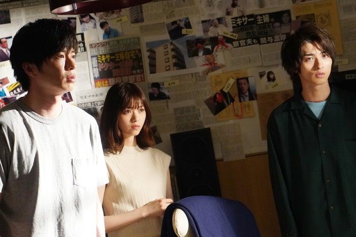 (左から)田中圭、西野七瀬、横浜流星/「あなたの番です」第12話より(C)日本テレビ