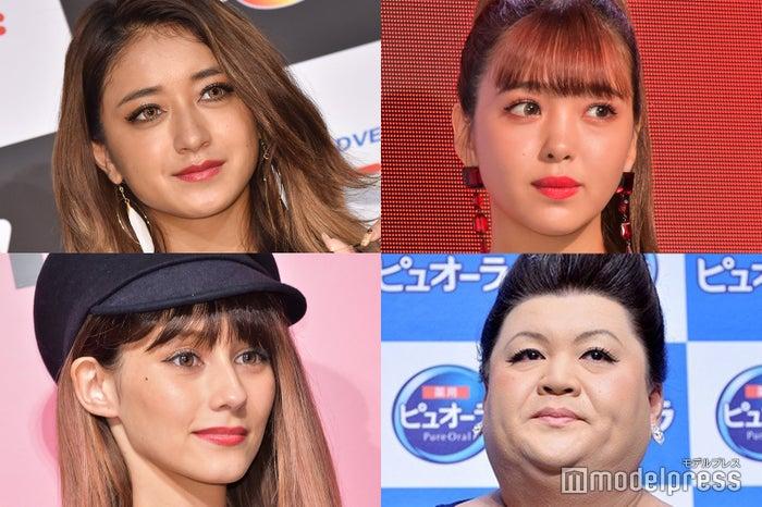 (左上から時計回りに)みちょぱ、藤田ニコル、マツコ・デラックス、ダレノガレ明美 (C)モデルプレス