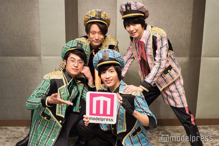(左上から時計回り)浅香航大、小越勇輝、志尊淳、堀井新太 (C)モデルプレス