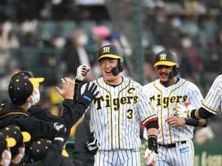 阪神主砲の大山に待望の今季1号「勝利打点、決勝打になっている。すごくいいこと」