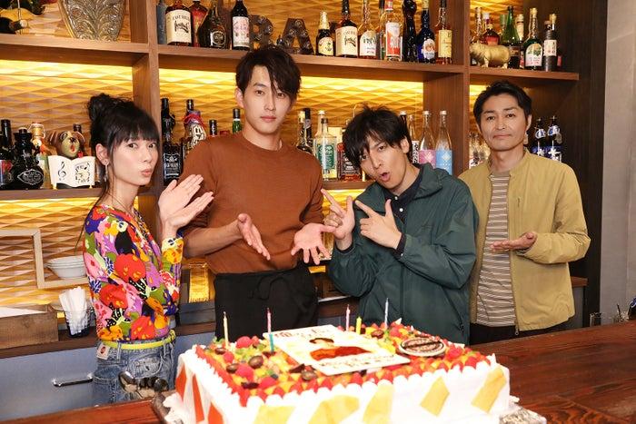 「俺の話は長い」出演の(左から)きなり、杉野遥亮、生田斗真、安田顕(C)日本テレビ