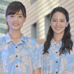 日テレ新人佐藤梨那アナ&後呂有紗アナ、初の公イベント 無茶振りにも応じる