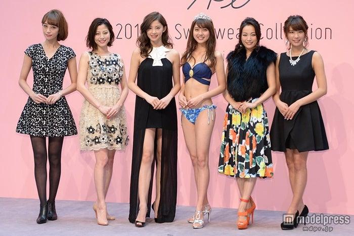 歴代イメージガール(左から)武田真理子、杉本有美、朝比奈彩、松元絵里花、北川富紀子、久松郁実